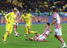Кубок мира 2018 ФИФА квалифицируя: Украина v Хорватия Стоковое Изображение RF