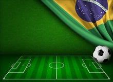 Кубок мира футбола в концепции Бразилии иллюстрация штока