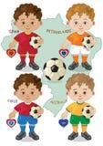 Кубок мира b футбола Стоковые Изображения