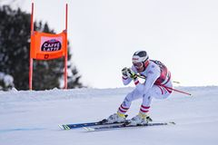 Кубок мира 12/28/2017 freeride Bormio катаясь на лыжах Стоковые Изображения
