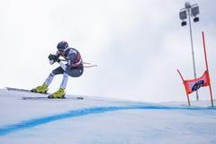 Кубок мира 12/28/2017 freeride Bormio катаясь на лыжах Стоковые Фото