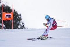 Кубок мира 12/28/2017 freeride Bormio катаясь на лыжах Стоковая Фотография