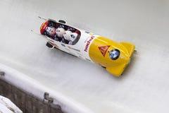 Кубок мира Koenigssee 2016 BMW IBSF Rico Питера стоковое изображение