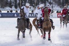 Кубок мира Sankt Мориц 2016 поло снега Стоковые Изображения