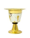 Кубок с плитой на белой предпосылке Стоковая Фотография