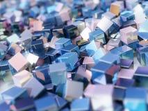 Кубы абстрактной предпосылки красочные металлические Стоковое Изображение