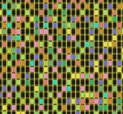 Кубы абстракции пестротканые Стоковая Фотография