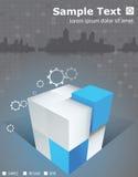 Кубы брошюры 3D горизонта Стоковые Изображения RF