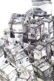 кубы льда как очень славная предпосылка стоковое изображение rf