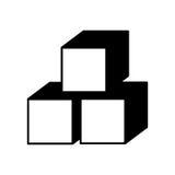 кубы сахара изолировали значок иллюстрация вектора