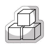 кубы сахара изолировали значок бесплатная иллюстрация