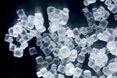 Кубы соли в микрорисунке поляризации Стоковая Фотография