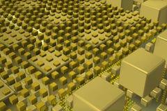Кубы техника в сцене предпосылки Стоковое фото RF