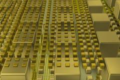 Кубы техника в сцене предпосылки Стоковое Изображение