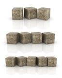 Кубы цемента Стоковая Фотография