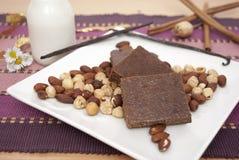 Кубы шоколада Стоковые Изображения RF