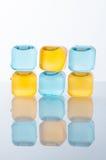 Кубы льда в покрашенный Стоковые Фотографии RF