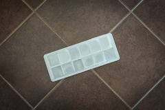 Кубы льда в прессформе блока Стоковая Фотография RF