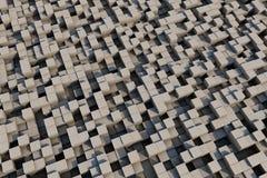 кубы 3d с текстурой grunge Стоковое Фото