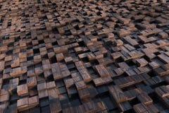 кубы 3d с текстурой grunge Стоковое Изображение RF