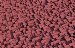 кубы 3d с текстурой grunge Стоковая Фотография