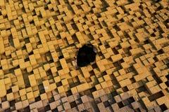 кубы 3d с текстурой grunge Стоковая Фотография RF