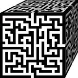 Куб лабиринта стоковая фотография