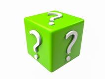 куб вопроса 3D Стоковые Изображения