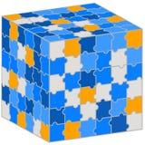 Куб головоломки. Иллюстрация для вашего представления дела. Стоковые Изображения