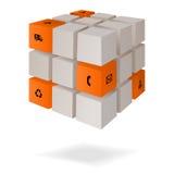 Куб информации Стоковое Изображение