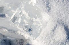 Куб и снег льда Стоковые Изображения