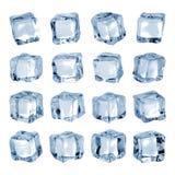 Куб льда изолированный на белой предпосылке Часть льда в форме блока r стоковые фотографии rf