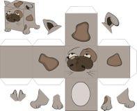 Куб собаки. Игрушка для сборища Стоковое Изображение RF