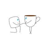 Куб чашки и сахара Стоковая Фотография