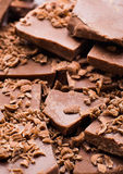 Куб шоколада стоковое изображение