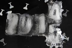 куб льда 2015 Стоковая Фотография RF