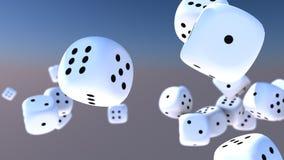 Куб dices падать Стоковые Фото