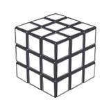 Куб Rubik изолированный на белой предпосылке Линия искусство конструкция самомоднейшая Стоковые Изображения