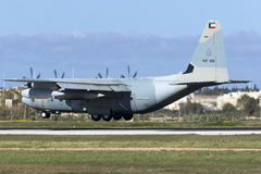 Кувейтец C-130J Геркулес Стоковое фото RF