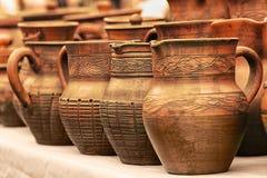 Кувшины глины керамика Стоковое Изображение