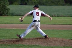 Кувшин бейсбола средней школы Стоковые Фотографии RF
