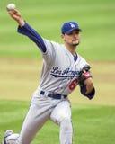 Кувшин Chan-ho Park Лос-Анджелеса Dodgers стоковое изображение