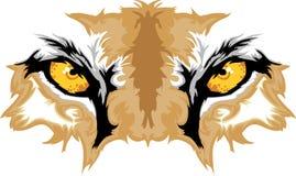 кугуар eyes графический талисман иллюстрация вектора