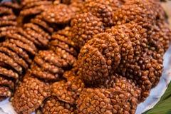 Кудрявая зажаренная закуска арахиса тайская вкусная Стоковое Изображение