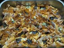 Кудрявые горячие сваренные tartlets сыра коз Стоковые Фото