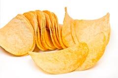 Кудрявые картофельные стружки Стоковая Фотография