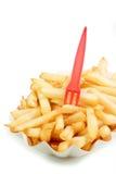 кудрявые fries франчуза Стоковое Изображение RF