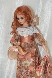 Кукла в ретро платье Стоковые Фото