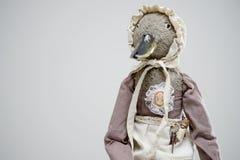 Кукла горничной утки птицы глины меха винтажная викторианская Стоковые Изображения RF