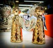 Кукла золотых углов керамическая Стоковые Фото